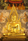 Old buddha in Phrathat chohae temple Royalty Free Stock Image