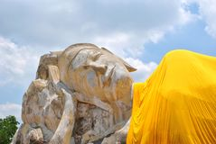 Old buddha smile in Thailand Royalty Free Stock Photos