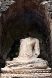 The old buddha statue . Royalty Free Stock Photos