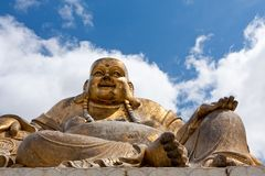 Old buddha statue Royalty Free Stock Photos