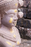 Old buddha statue in antique stone castle Royalty Free Stock Photos