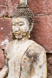Old buddha statue in antique stone castle Stock Photography