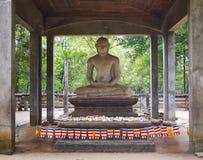 Old Buddha statue in Anuradhapura, Sri Lanka Royalty Free Stock Photography