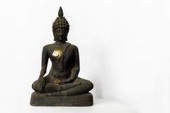 Old Buddha statue buddha image used as amulets of Buddhism religion isolated on white background Royalty Free Stock Photo