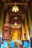Old Buddha Statue In Chapel Royalty Free Stock Image