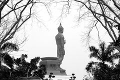 The old buddha statue. Royalty Free Stock Photography