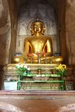 The old Buddha statue in old pagoda temple in Bagan,Myanmar Royalty Free Stock Image