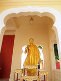Old Buddha statue in phra Pathom Chedi Stock Image