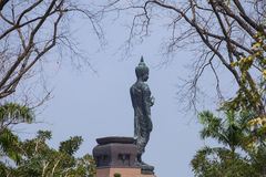 The old buddha statue. Royalty Free Stock Image