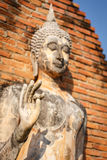 Old buddha statue in Sukhothai Historical Park Royalty Free Stock Photos