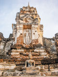 Old buddha statue in sukhothai northern of thailand Stock Image