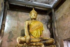 Wat Bang Kung at Bang Kung Sub-district in Bang Khontee District of Samut Songkhram, Thailand. Old buddha statue in ubosot of Wat Bang Kung for people travel and Royalty Free Stock Photography