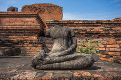 Old buddha statue Stock Images