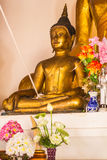 Old buddha statue in wat nam hu ,Pai Mae hong son Thailand Royalty Free Stock Images