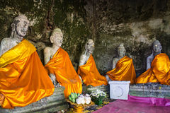 Old Buddha Statues, Wat Pha lat, Chiangmai Thailand Royalty Free Stock Images