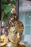 Old buddha status. Royalty Free Stock Photo