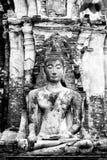 Old Buddha. In Wat Maha That  Ayutthaya Thailand Royalty Free Stock Photography