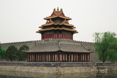 Old Buddhism Temple. Red Asian Pagoda Tower. Ancient Architecture Asian Temple Stock Image