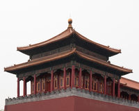 Old Buddhism Temple. Red Asian Pagoda Tower. Ancient Architecture Asian Temple Stock Photography