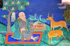 Old buddhist fresco Royalty Free Stock Photos