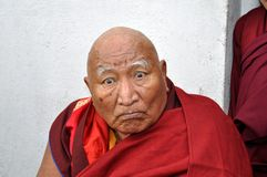 Old Buddhist monk Stock Image