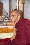Old Buddhist monk in Bagan, Myanmar Stock Image