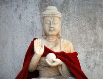 Old Buddhist statue. Close up, Dalian, China Royalty Free Stock Photos