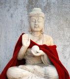 Old Buddhist statue. Close up. Dalian, China Royalty Free Stock Photos