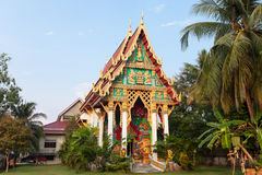 Old Buddhist Temple. Wat Khlong Phrao on Chang island, Thailand Stock Image