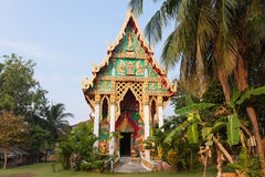 Old Buddhist Temple. Wat Khlong Phrao on Chang island, Thailand Royalty Free Stock Photos