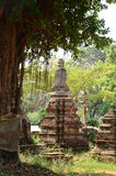 Old buddhist temple in Ayuttha, Thailand Royalty Free Stock Photos