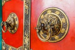 Old buddhist temple door Stock Photos