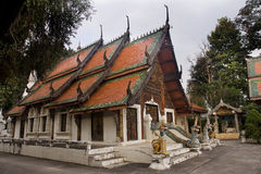 The old Buddhist temple in Lampang Stock Image