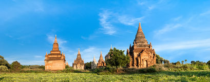 Old Buddhist Temples at Bagan Kingdom, Myanmar (Burma). Travel landscapes and destinations. Amazing architecture of old Buddhist Temples at Bagan Kingdom Stock Photo