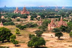 Old Buddhist Temples at Bagan Kingdom, Myanmar (Burma) Royalty Free Stock Photo