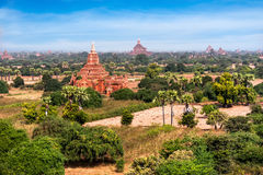Old Buddhist Temples at Bagan Kingdom, Myanmar (Burma) Royalty Free Stock Images