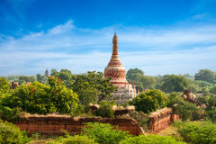 Old Buddhist Temples at Bagan Kingdom, Myanmar (Burma). Travel landscapes and destinations. Amazing architecture of old Buddhist Temples at Bagan Kingdom Royalty Free Stock Photography