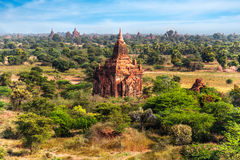 Old Buddhist Temples at Bagan Kingdom, Myanmar (Burma). Travel landscapes and destinations. Amazing architecture of old Buddhist Temples at Bagan Kingdom Stock Images