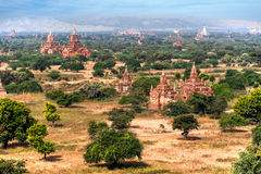Old Buddhist Temples at Bagan Kingdom, Myanmar (Burma) Stock Photo