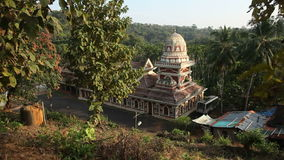 Old Buddhist temples in Goa, India stock video footage