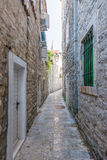 Old Budva. Houses, streets and alleys. Montenegro Stock Image