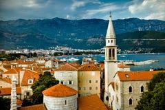 Old Budva, Montenegro. The landscape of old city Budva, Montenegro Stock Photos