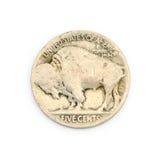 Old buffalo nickel Royalty Free Stock Image