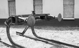 Old buffer stop b&w Stock Images