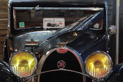 Old Bugatti. LYON, FRANCE, November 6, 2015 : The annual Motorshow Epoq'Auto, rassembling more than 50.000 fans of old cars, takes place in Eurexpo showroom in Stock Photo