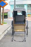 Old buggy used to pick up passengers. royalty free stock image