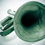 Old bugle. Closeup of an old bugle Stock Image