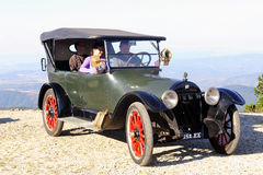 Old buick. In France to the summit of Mont Aigoual Stock Photo