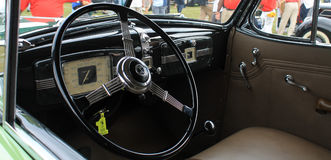 Old buick interior Royalty Free Stock Photography