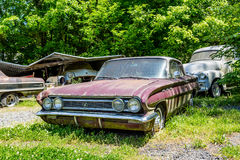Old Buick in Junkyard Royalty Free Stock Photo